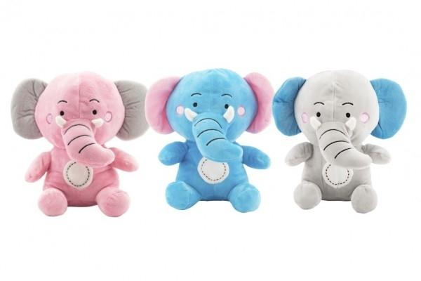 Slon sedící plyš 24c