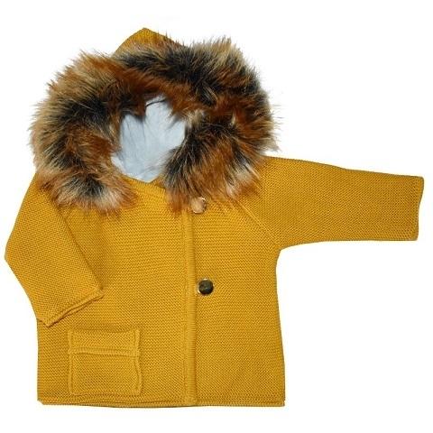 kabátek hořčicový