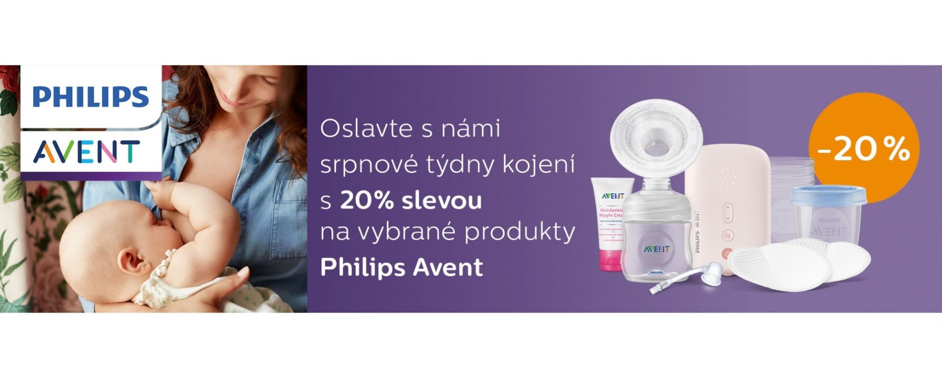 SRPNOVÉ TÝDNY KOJENÍ s Philips AVENT