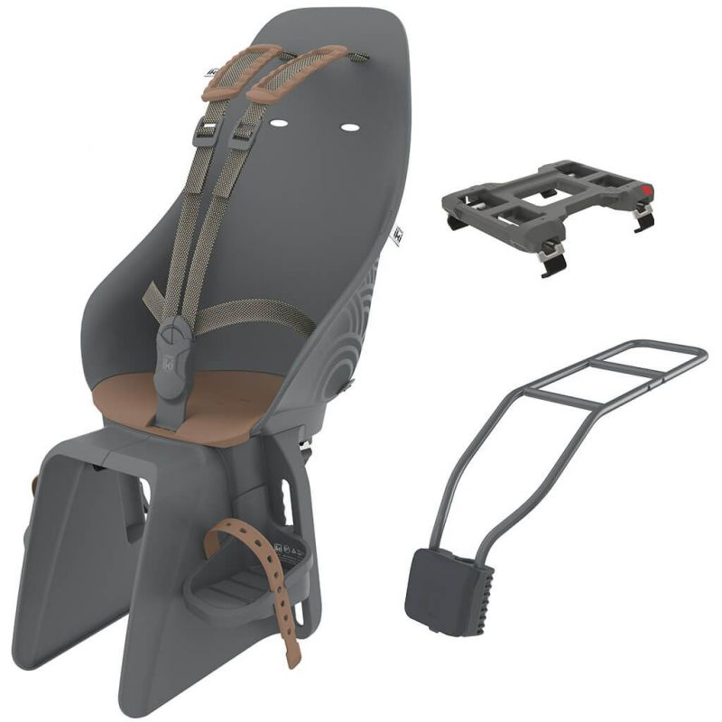 [213976] Zadní sedačka na kolo s adaptérem a nosičem na sedlovku SET (Bincho Black-Kurumi Brown).jpg