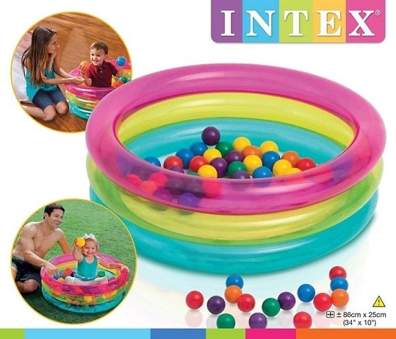 intex bazén s míčky