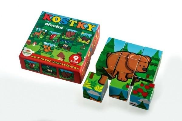 Kostky kubus dřevěné